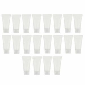 20 Packs 5ml Empty Hand Cream Squeeze Tubes Refillable Sample Bottles Vials Set