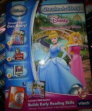 Disney Vtech Create-A-Story Disney Princess Cinderella Sleeping Beauty Ages 3+