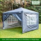 Gazebo 3x3m By Garden Universe Heavy Duty Pop up Frame Marquee Canopy Tent Grey