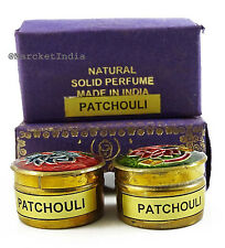 Natural Patchouli Solid Perfume Body Musk in Mini Brass Jar 4 gm