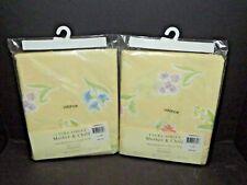 2 Packs Laura Ashley Mother & Child Crib Valance Straight Hemmed Yellow New (I)