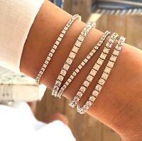6 Ct Tennis Bracelet Cubic Zirconia 925 Silver Bracelet Gemstone White Gold
