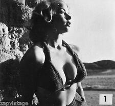 Vintage 1950's Black & White PIN-UP Sexy HEADSHOT Model Bahting Suit BOOBS Photo
