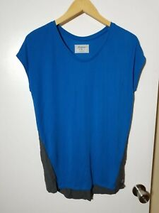 1 NWT LEVELWEAR WOMEN'S T-SHIRT, SIZE: X-SMALL, COLOR: BLUE/GRAY (J199)