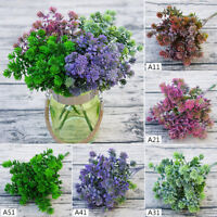 Artificial Plants Fake Flower Leaf Foliage Bush Home Garden Christmas Decor Sale