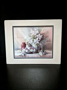 Art Print,  11 X 14 Double Matt, NEW SEALED, Flowers, Lilies, Still life
