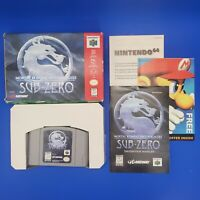 Mortal Kombat Mythologies Sub-Zero Nintendo 64 N64 CIB Complete In Box Tested
