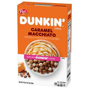 Dunkin' Caramel Macchiato Breakfast Cereal 11 oz NEW