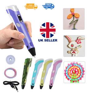 3D Printing Pen Drawing Pen Printer + LCD Screen + USB+ PLA Filaments Toys
