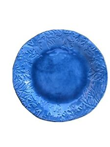 """Pier 1 Imports Blue coral textured Melamine 11"""" Dinner Plate Individual EUC"""