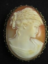 Antique Sterling Silver Carved Shell Cameo Brooch/Pin-Pendant~1 Owner~Circa1930s