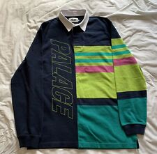 Palace Skateboards Pronto Rugby Shirt Top Size L Large Brand New Navy