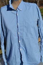 Mens L.O.G.G. Sz L Regular Long Sleeve Button Robin Blue Great Condition by H&M