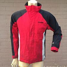 Spyder Winter Coat Boys 20 Red Black Shell Zip-Out Fleece Inner Jacket Ski Snow