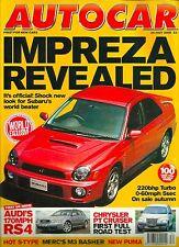 Autocar 26th July 2000, Subaru Impreza, RS4, S400, ST200, Legacy, PT Cruiser
