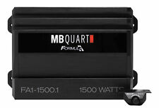 Mb Quart Fa1-1500.1 1500 Watt Mono Amplifier Car Audio 1-Ohm Class-D Amp+Remote
