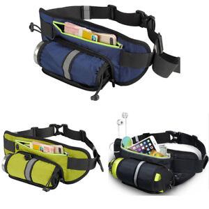 Sport Belt Waist Pack Pouch Water Bottle Holder Bag Waterproof Cycling Hiking