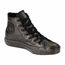 Original Converse Chuck Taylor All Star Black Leather Shoes Mens Womens 1T405