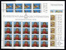 Liechtenstein 1976 postfrisch Bogen MiNr. 662-665  Weihnachten