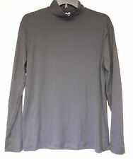 Joe Fresh men's long sleeve turtle neck super soft athletic shirt sz M black New