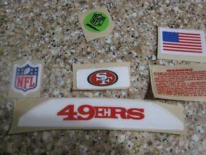 San Francisco 49ers  20 mil 3M vinyl full size football helmet decals