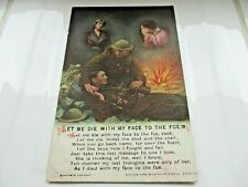 Collectable Vintage WWI Portrait Postcard of Wounded Soldier Battlefield Comrade