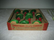 12 Vintage Christmas Gurley Candle stick wax candles novelty used half box rare