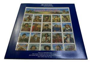 US #2870 Legends of the West ERROR Sheet in sealed USPS Package. KP-001