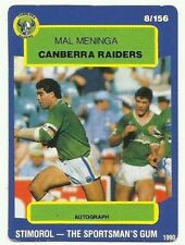 Mal Meninga Canberra Raiders NRL & Rugby League Trading Cards