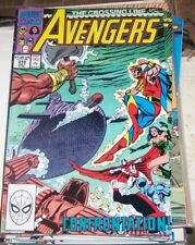 Avengers # 319  1990 Marvel the crossing line captain america thor vision quasar