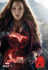 Avengers 2 Age of Ultron Movie Poster (24x36) - Scarlet Witch Elizabeth Olsen