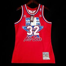 dd9e018c53a 100% Authentic Magic Johnson Mitchell   Ness 91 All Star Jersey Mens Size  ...