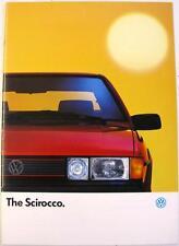 VOLKSWAGEN Scirocco GT Scala GTX Original Sales Brochure 1988 #720/1190.46.25
