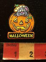 ID 0788B Buck Teeth Pumpkin Patch Jack O Lantern Embroidered Iron On Applique