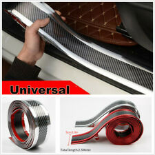 2.5M 5D Carbon Fiber Style Car Door Sill Pedal Protector Cover Decoration Strip