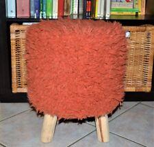 Sgabello Poggiapiedi in Eco pelliccia Linea Oro Rosa