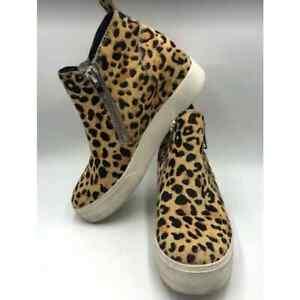 Steve Madden Women's Leopard Cow Hair Platform Sneakers 7M