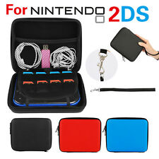 Carry Storage Hard Protective Case Cover For Nintendo 2DS Game With Zip UK Ship