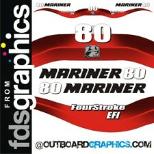 Mariner 80hp 4 stroke EFI outboard decals/sticker kit