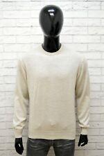 Felpa Uomo Trussardi Collection Taglia L Maglione Sweater Cardigan Lana Pullover