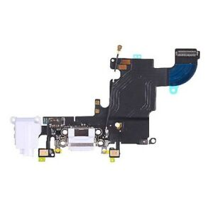 """iPhone 6S 4.7"""" New White Complete Dock Connector Charging Flex Cable Port Part"""