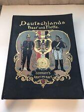 Sigel, Gustav / Deutschlands Heer und Flotte in Wort und Bild / Germany's 1st ed