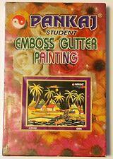 RARE PANKAJ 40 X 55 Student Emboss Glitter Painting #096 Delhi MSRP $130 India