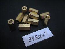 10x Brass Standoff Spacer M3 Female x M3 Female - 9mm