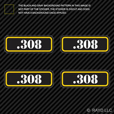 (4x) .308 Ammo Can Sticker Set Decal Self Adhesive molon labe bullet 308 type 2