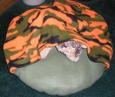 SMALL DOG BED SLEEPING BAG, HUNTER ORANGE CAMO, COMFY COZY