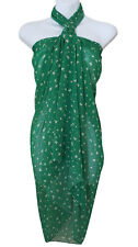 Green Butterfly Animal Print Sarong Pareo Scarf Wrap Swimsuit Beach Cover 71
