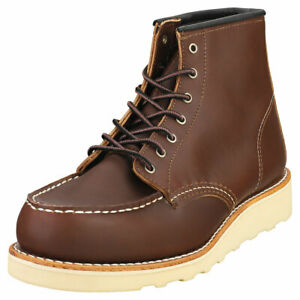Red Wing Clasic Moc Femme Mahogany Cuir Bottes Decontractee