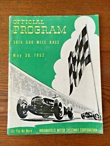 Indianapolis Speedway 1952 program