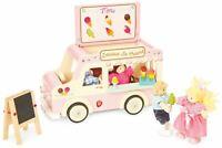 Le Toy Van DOLL HOUSE DOLLY ICE CREAM VAN Wooden Toy BN